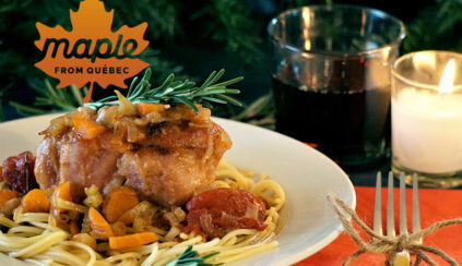 Maple-Rosemary-Flavoured Pork Osso Buco